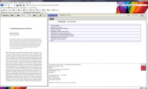 screenshot of ebrary reader