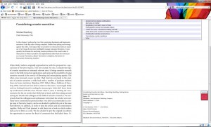 screenshot of ebrary