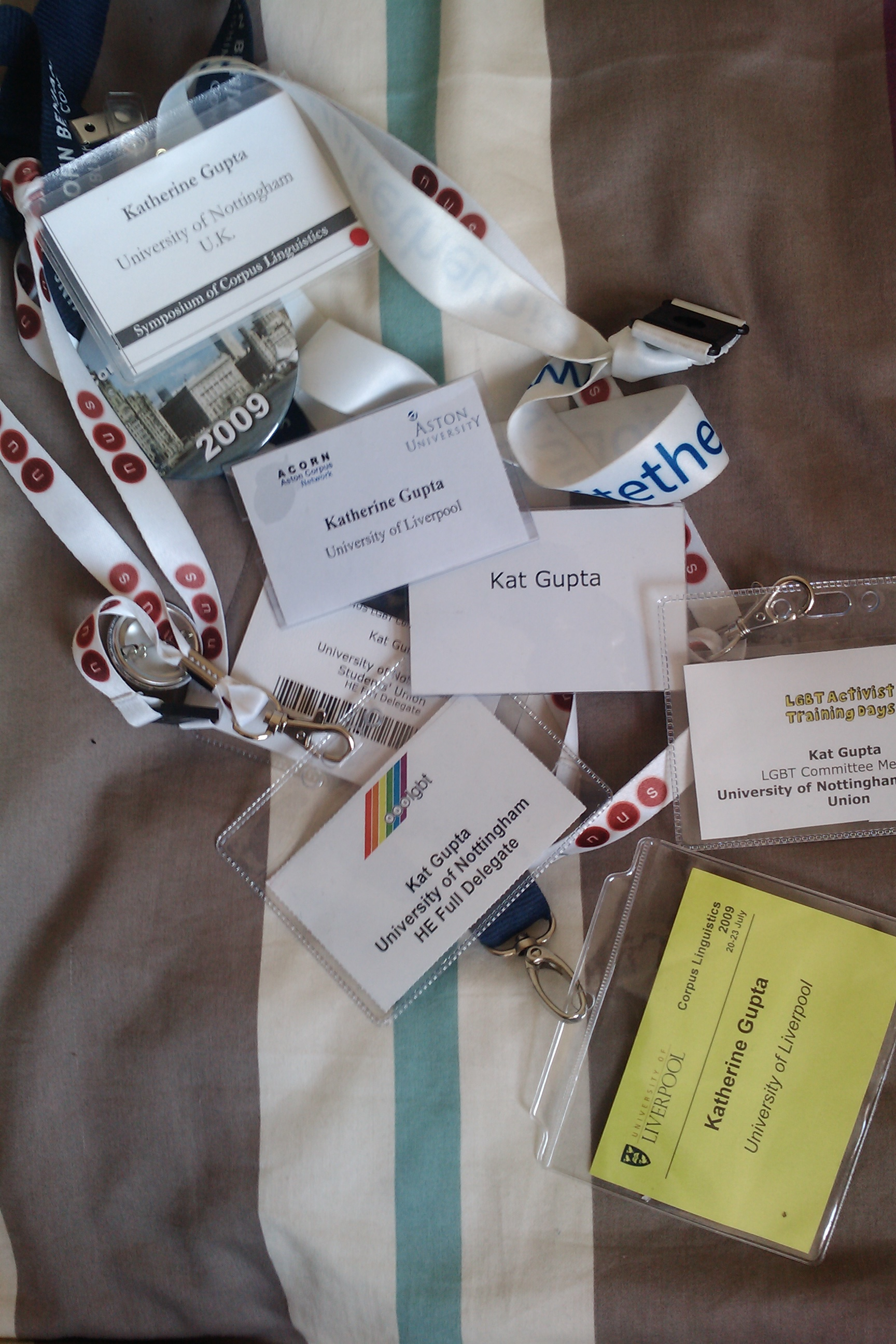 collection of name tags