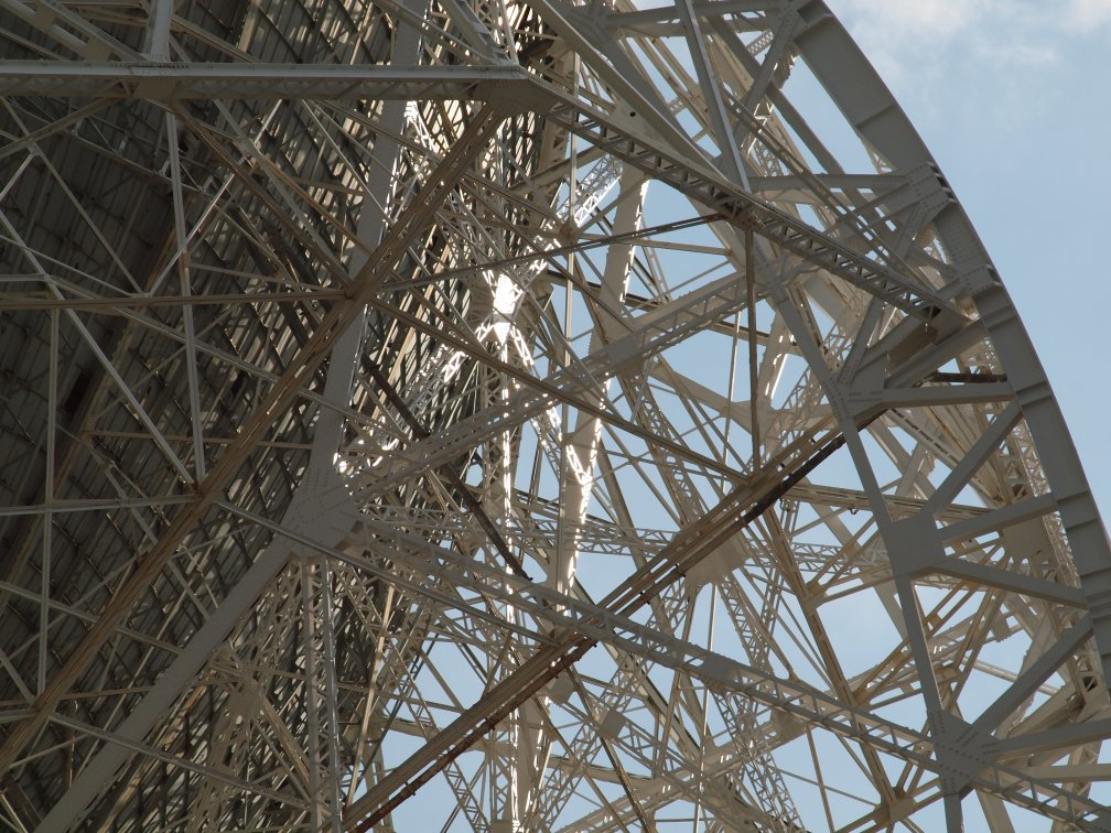 Detail of the supporting structure of the dish
