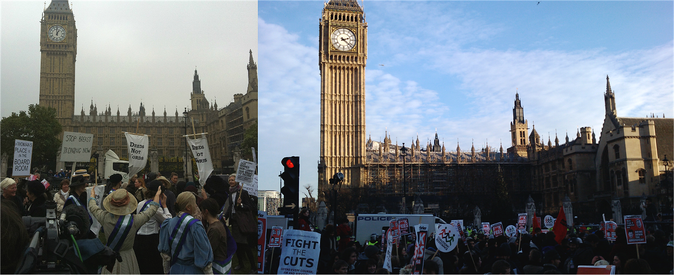 Protests outside Parliament