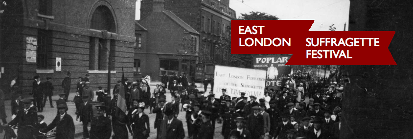 East London Suffragette Festival banner